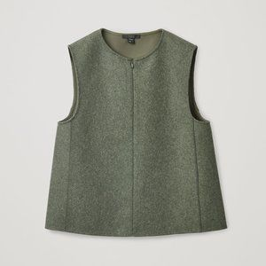 COS XS SLEEVELESS WOOL-MIX VEST XS / Size 2